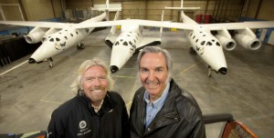 Rutan and Branson together with SpaceShip2 and WhiteKnight2